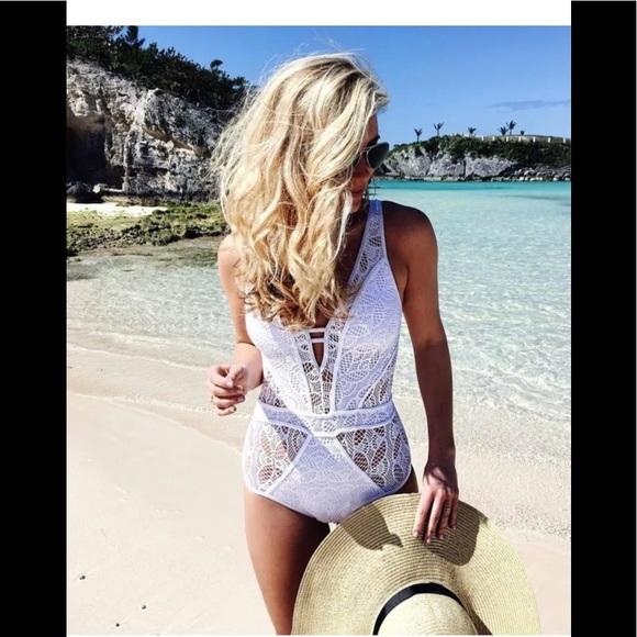 992c6372ea BECCA Other - Becca Show and Tell White one piece swimsuit S